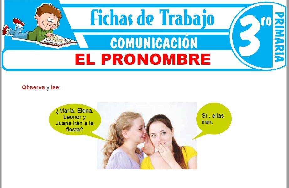 Modelos de la Ficha de El pronombre para Tercero de Primaria
