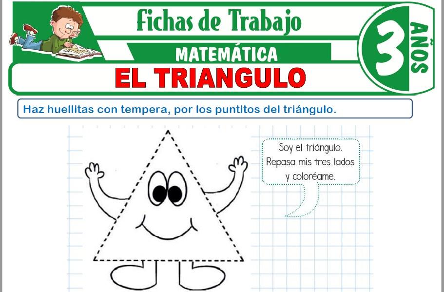 Modelos de la Ficha de El triángulo para Niños de Tres Años