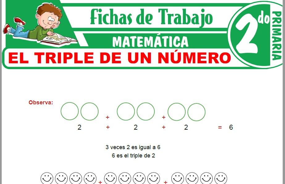 Modelos de la Ficha de El triple de un número para Segundo de Primaria