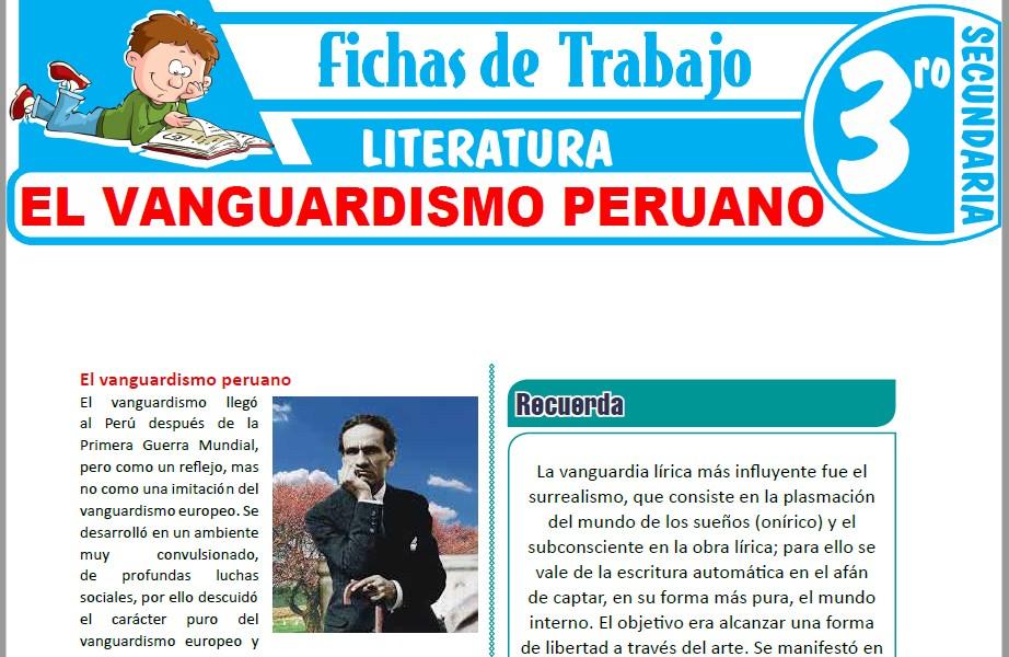 Modelos de la Ficha de El vanguardismo peruano para Tercero de Secundaria