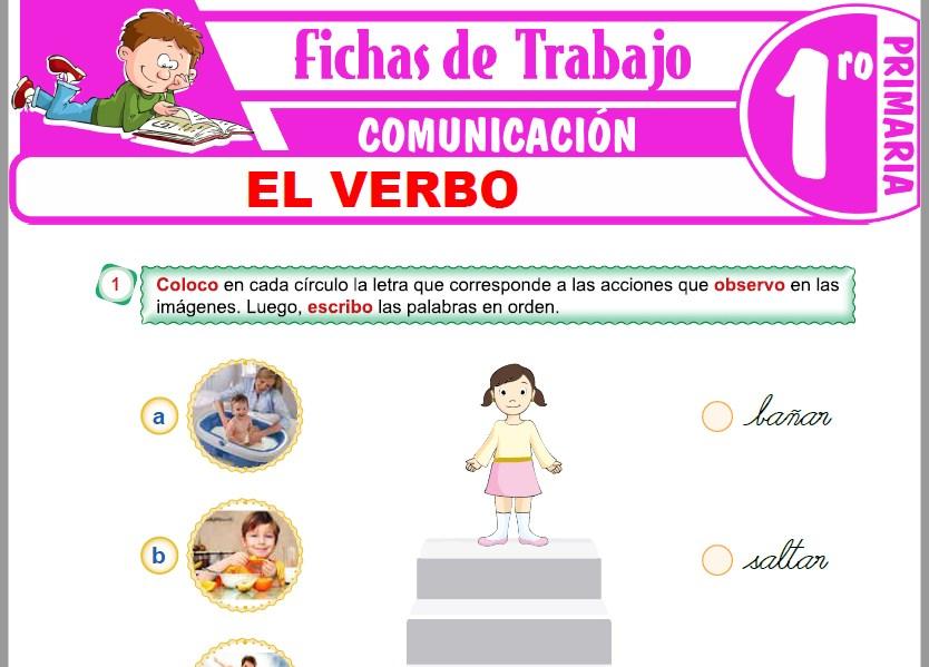 Modelos de la Ficha de El verbo para Primero de Primaria