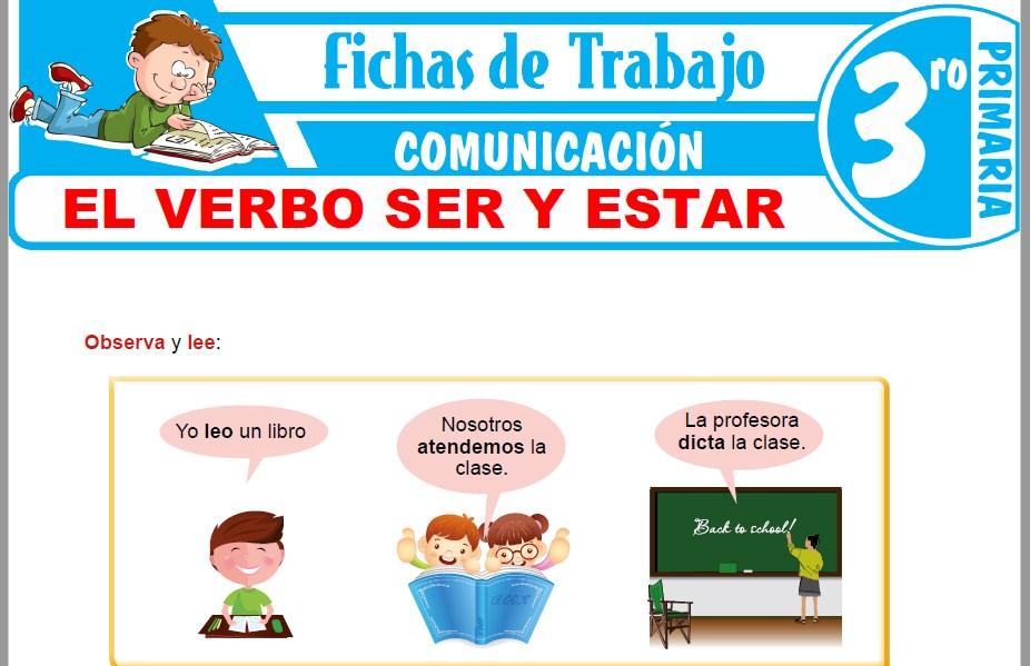 Modelos de la Ficha de El verbo ser y estar para Tercero de Primaria