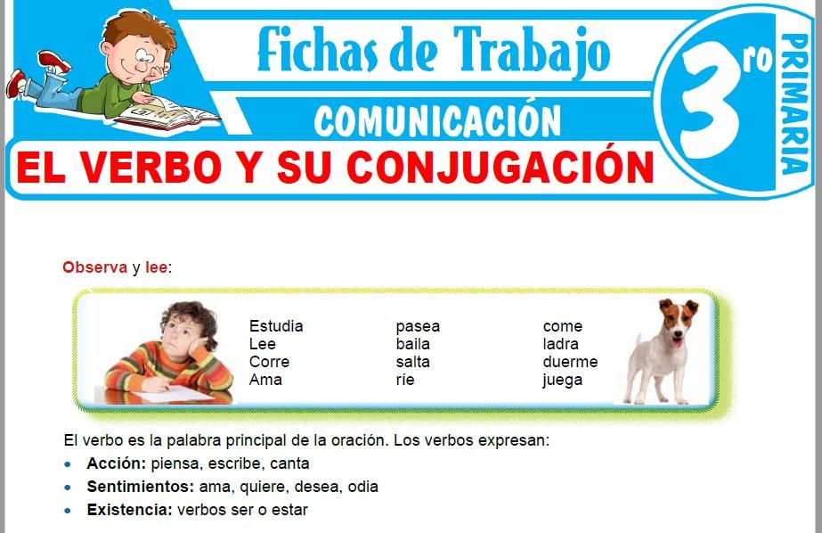 Modelos de la Ficha de El verbo y su conjugación para Tercero de Primaria