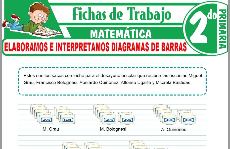 Modelos de la Ficha de Elaboramos e interpretamos diagramas de barras para Segundo de Primaria