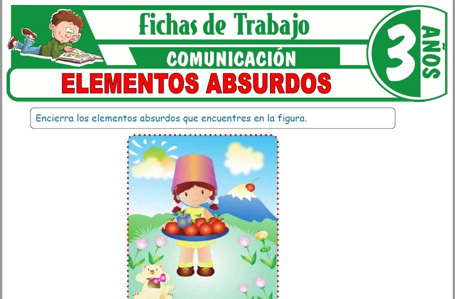Modelos de la Ficha de Elementos absurdos para Niños de Tres Años