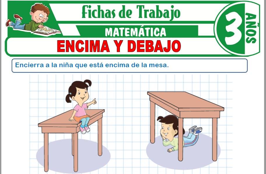 Modelos de la Ficha de Encima y debajo para Niños de Tres Años
