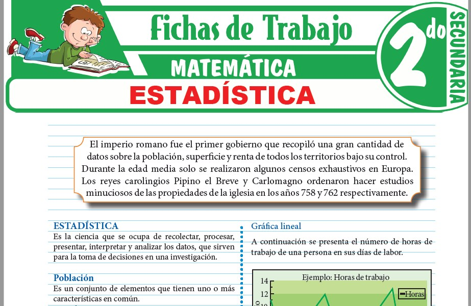 Modelos de la Ficha de Estadística para Segundo de Secundaria