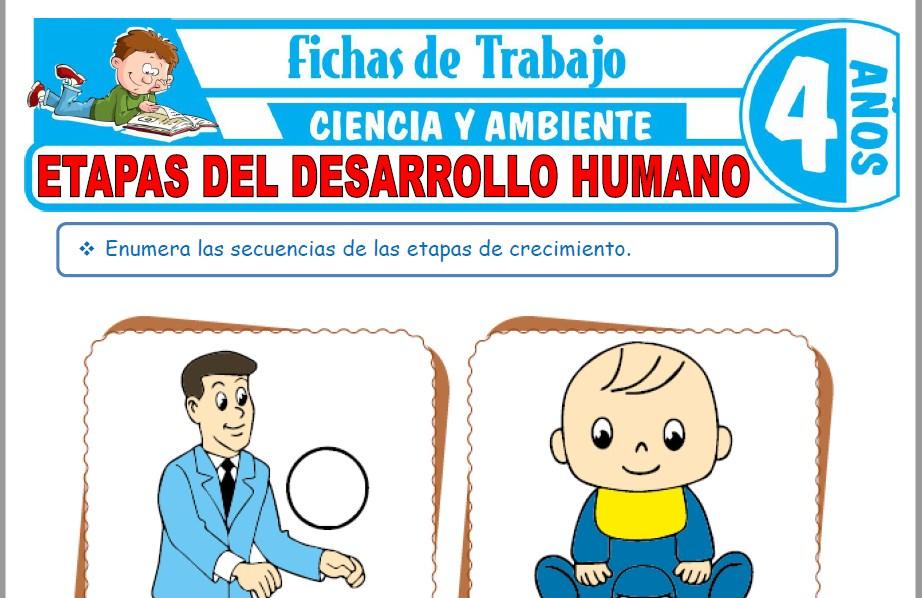 Modelos de la Ficha de Etapas del desarrollo humano para Niños de Cuatro Años