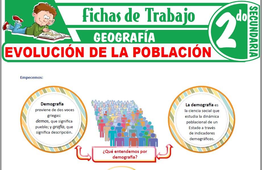 Modelos de la Ficha de Evolución de la población para Segundo de Secundaria