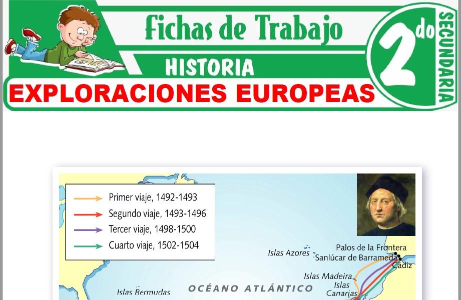 Modelos de la Ficha de Exploraciones Europeas para Segundo de Secundaria
