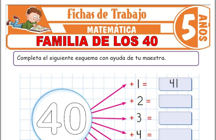 Modelos de la Ficha de Familia de los 40 para Niños de Cinco Años