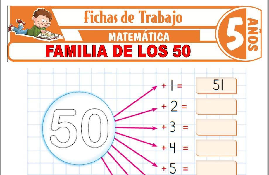 Modelos de la Ficha de Familia de los 50 para Niños de Cinco Años