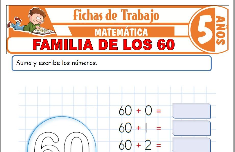 Modelos de la Ficha de Familia de los 60 para Niños de Cinco Años