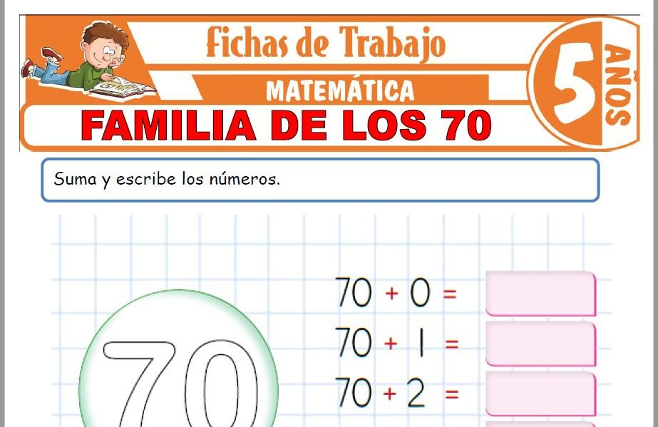 Modelos de la Ficha de Familia de los 70 para Niños de Cinco Años