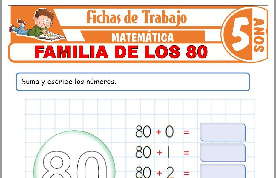 Modelos de la Ficha de Familia de los 80 para Niños de Cinco Años