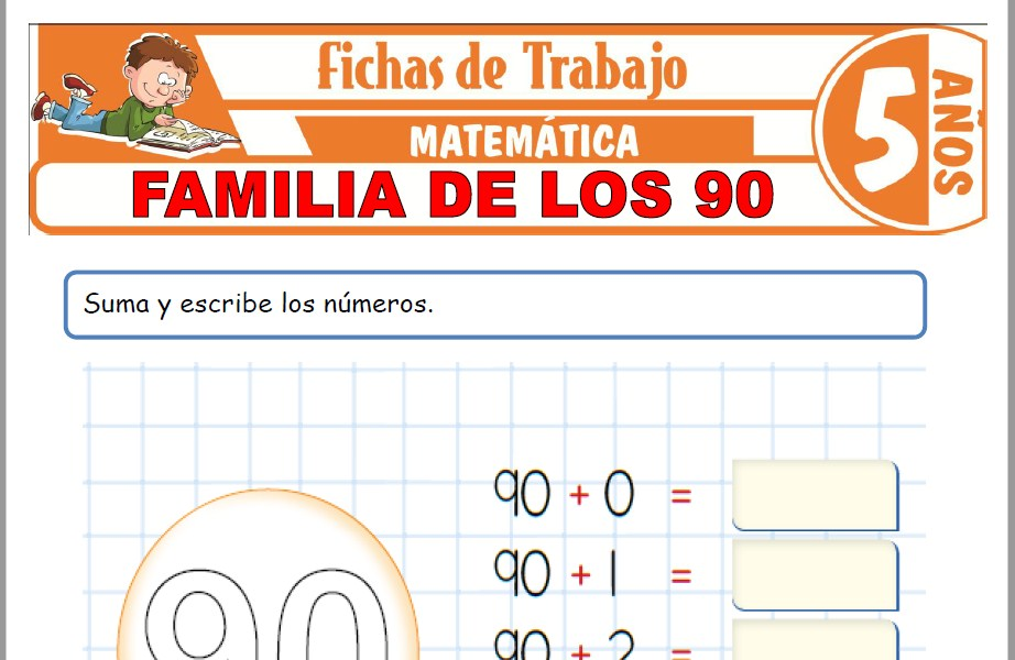 Modelos de la Ficha de Familia de los 90 para Niños de Cinco Años