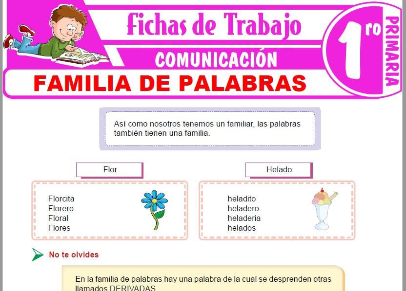 Modelos de la Ficha de Familia de palabras para Primero de Primaria