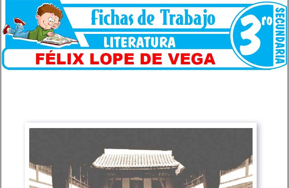Modelos de la Ficha de Félix Lope de Vega para Tercero de Secundaria