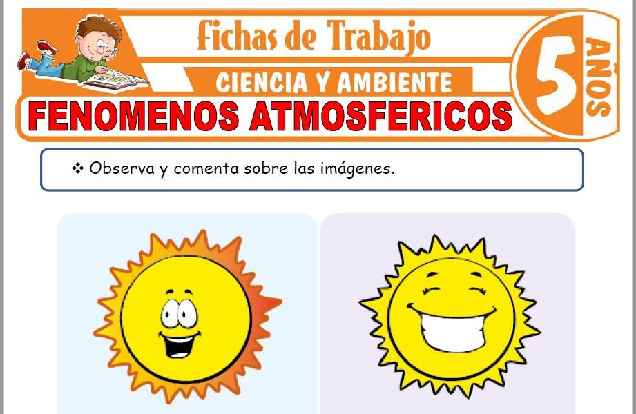 Modelos de la Ficha de Fenómenos atmosféricos para Niños de Cinco Años