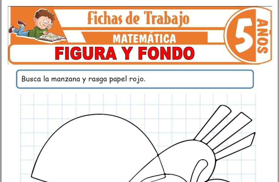 Modelos de la Ficha de Figura y fondo para Niños de Cinco Años