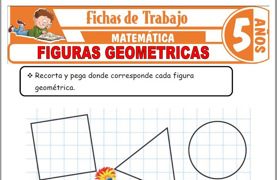 Modelos de la Ficha de Figuras geométricas para Niños de Cinco Años