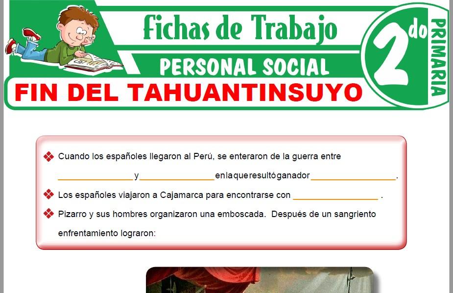 Modelos de la Ficha de Fin del Tahuantinsuyo para Segundo de Primaria