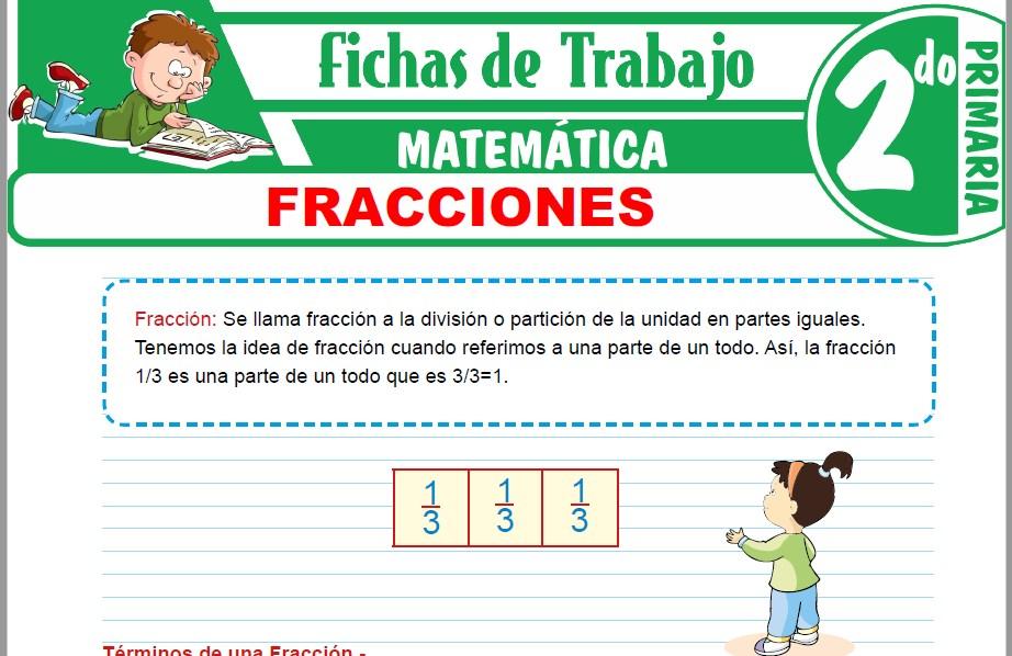 Modelos de la Ficha de Fracciones para Segundo de Primaria