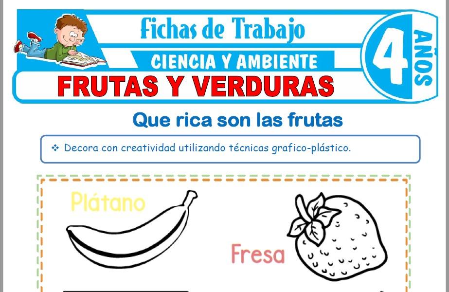 Frutas y verduras para Niños de Cuatro Años