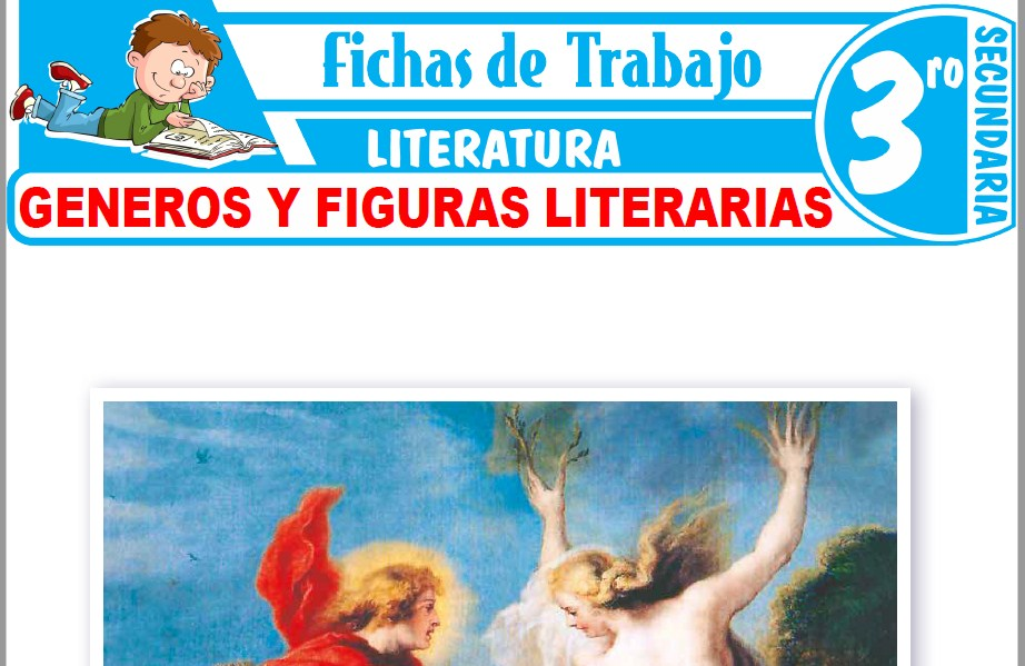Modelos de la Ficha de Generos y figuras literarias para Tercero de Secundaria