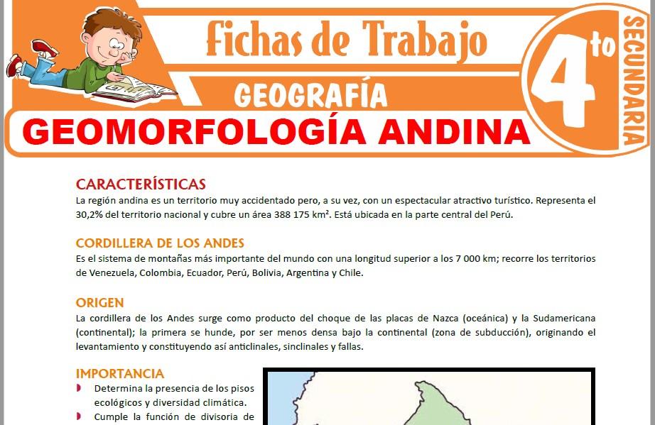 Modelos de la Ficha de Geomorfología andina para Cuarto de Secundaria