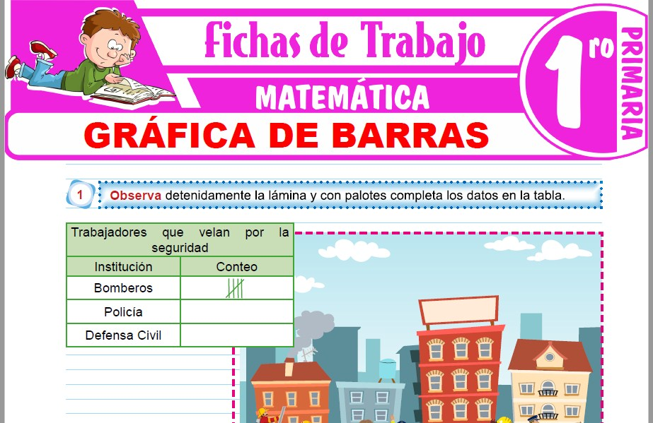 Modelos de la Ficha de Gráfica de barras para Primero de Primaria