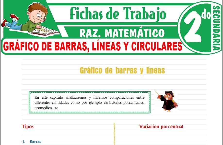 Modelos de la Ficha de Gráfico de barras, líneas y circulares para Segundo de Secundaria