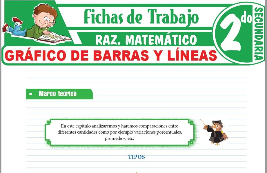 Modelos de la Ficha de Gráfico de barras y líneas para Segundo de Secundaria