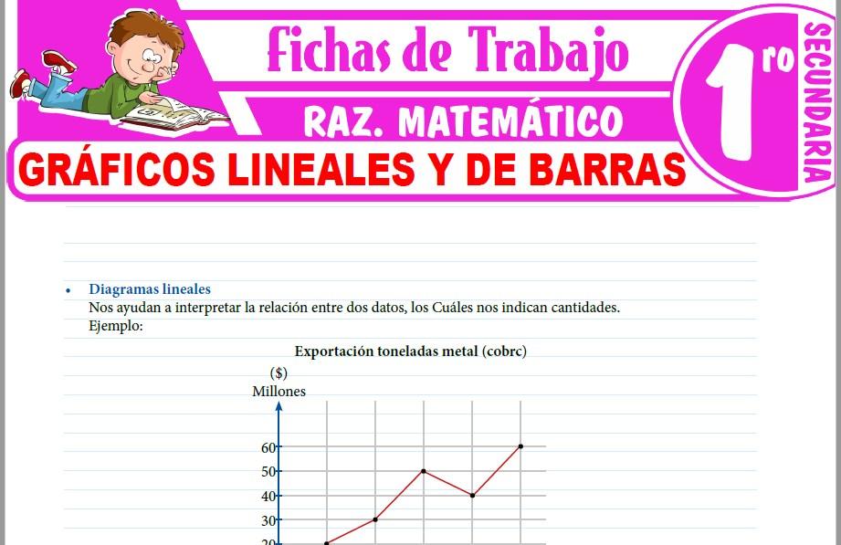 Modelos de la Ficha de Gráficos lineales y de barras para Primero de Secundaria