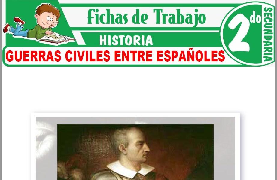 Modelos de la Ficha de Guerras civiles entre españoles para Segundo de Secundaria