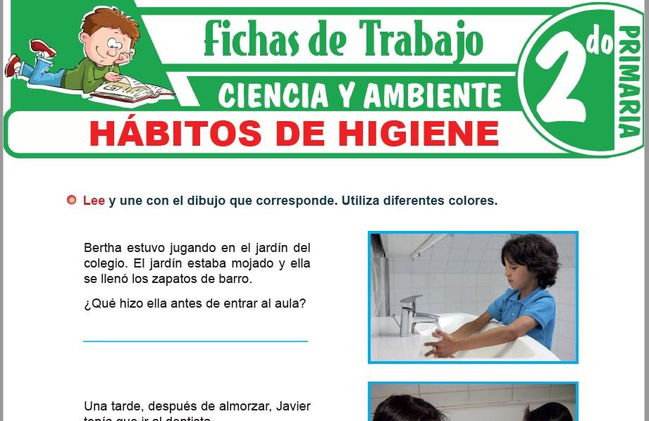 Modelos de la Ficha de Hábitos de higiene para Segundo de Primaria