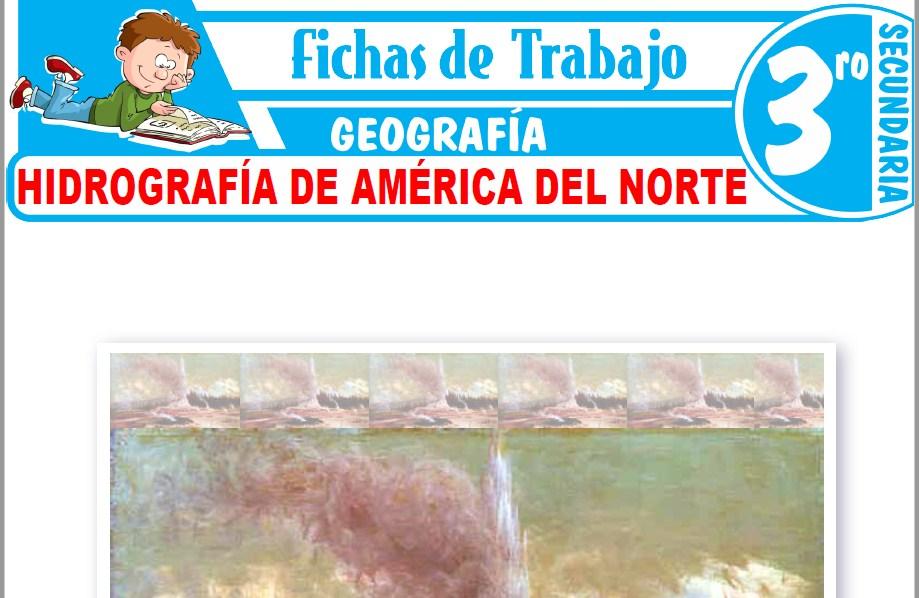 Modelos de la Ficha de Hidrografía de América del Norte para Tercero de Secundaria