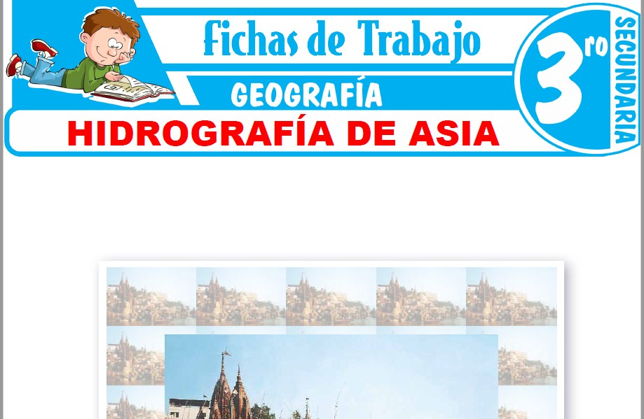 Modelos de la Ficha de Hidrografía de Asia para Tercero de Secundaria