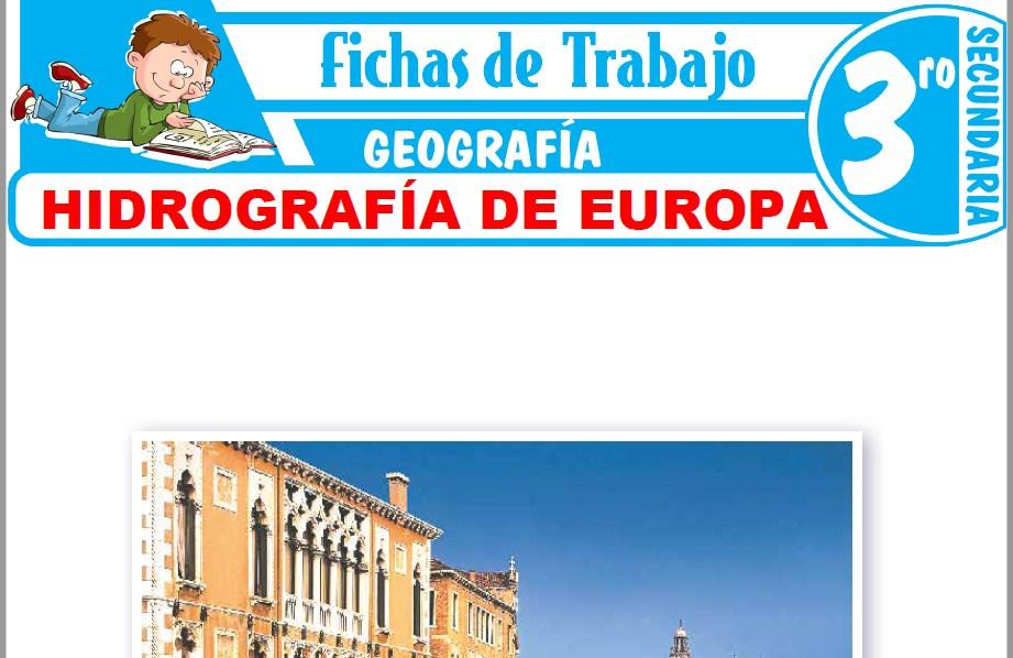 Modelos de la Ficha de Hidrografía de Europa para Tercero de Secundaria