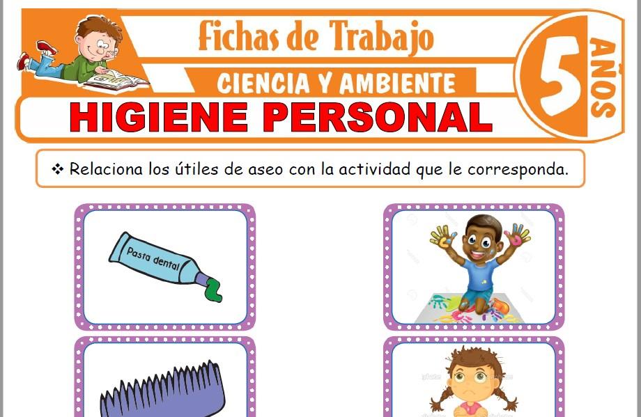 Modelos de la Ficha de Higiene personal para Niños de Cinco Años