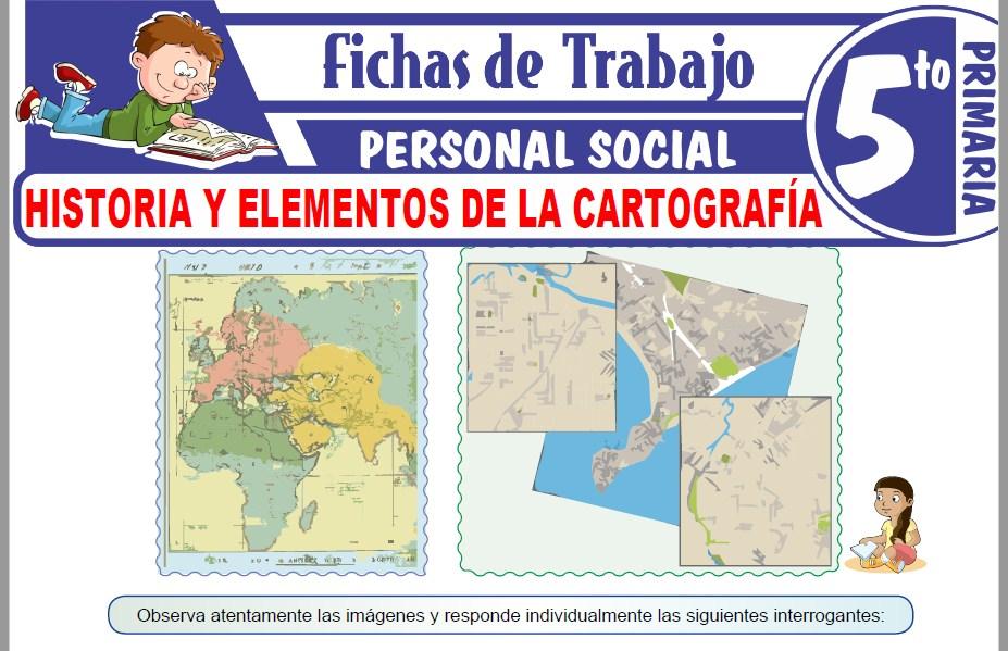 Modelos de la Ficha de Historia y elementos de la cartografía para Quinto de Primaria