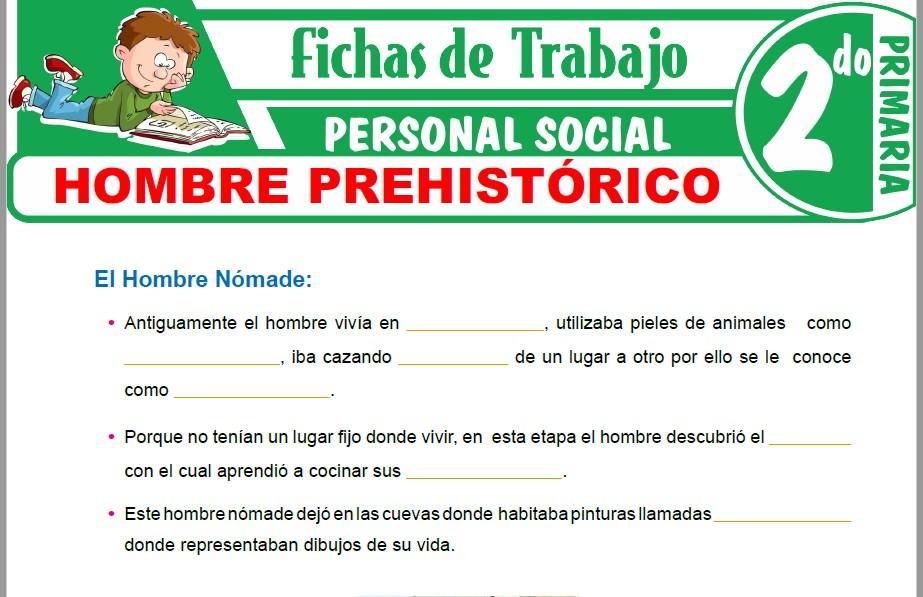 Modelos de la Ficha de Hombre prehistórico para Segundo de Primaria
