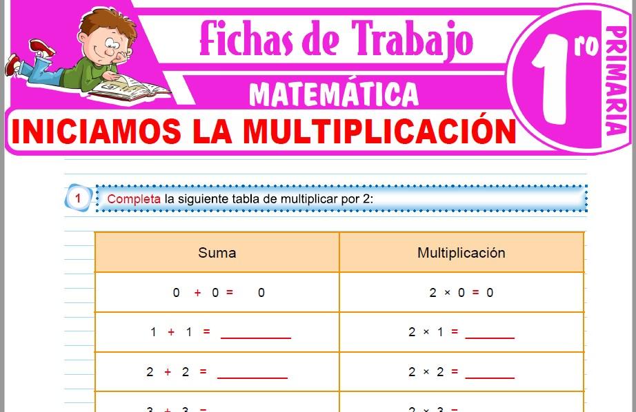 Modelos de la Ficha de Iniciamos la multiplicación para Primero de Primaria