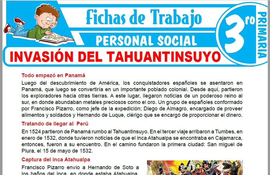 Modelos de la Ficha de Invasión del Tahuantinsuyo para Tercero de Primaria