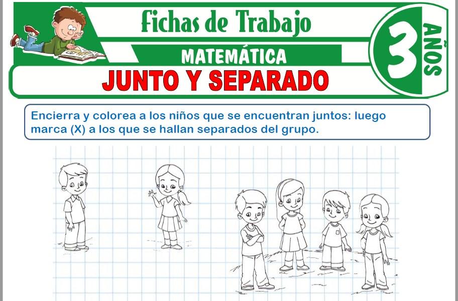 Modelos de la Ficha de Junto y separado para Niños de Tres Años