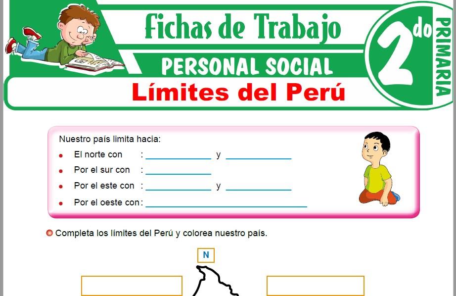 Modelos de la Ficha de Límites del Perú para Segundo de Primaria