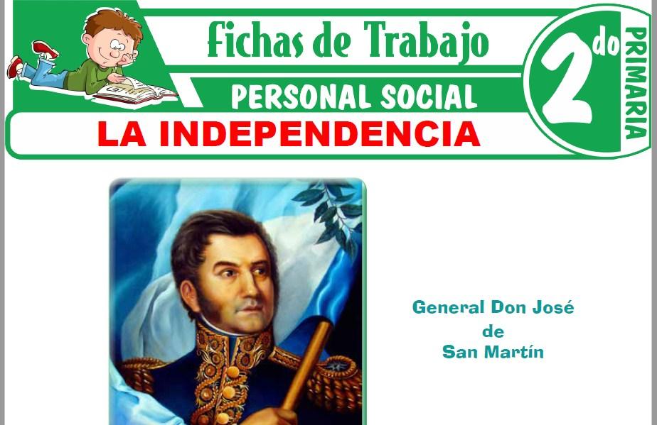 Modelos de la Ficha de La Independencia para Segundo de Primaria