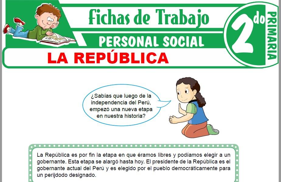 Modelos de la Ficha de La República para Segundo de Primaria