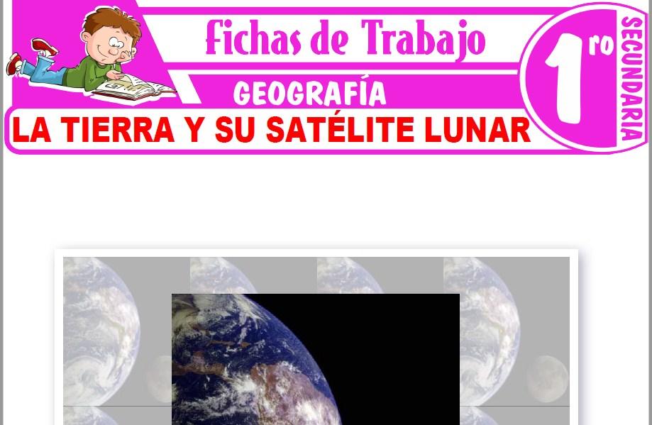 Modelos de la Ficha de La Tierra y su satélite lunar para Primero de Secundaria