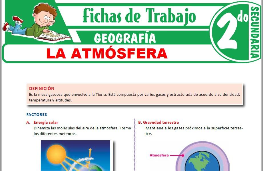Modelos de la Ficha de La atmósfera para Segundo de Secundaria